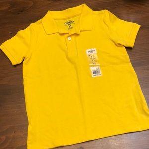 (5T) Oshkosh yellow short sleeve polo shirt